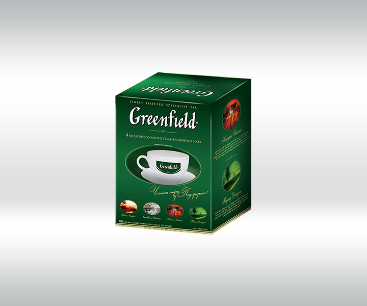 «Greenfield» promo-package of premium plantation tea with cup in a gift
