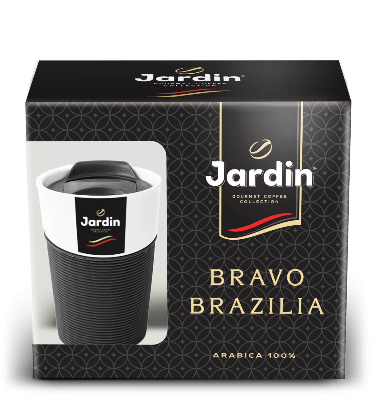 "A promo-package coffee ""Jardin"" with a thermo сup"